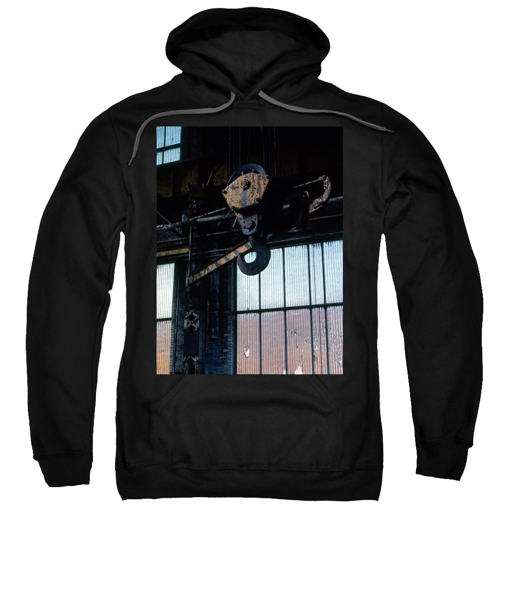 Hooks Sweatshirt featuring the photograph Locomotive Hook by Richard Rizzo
