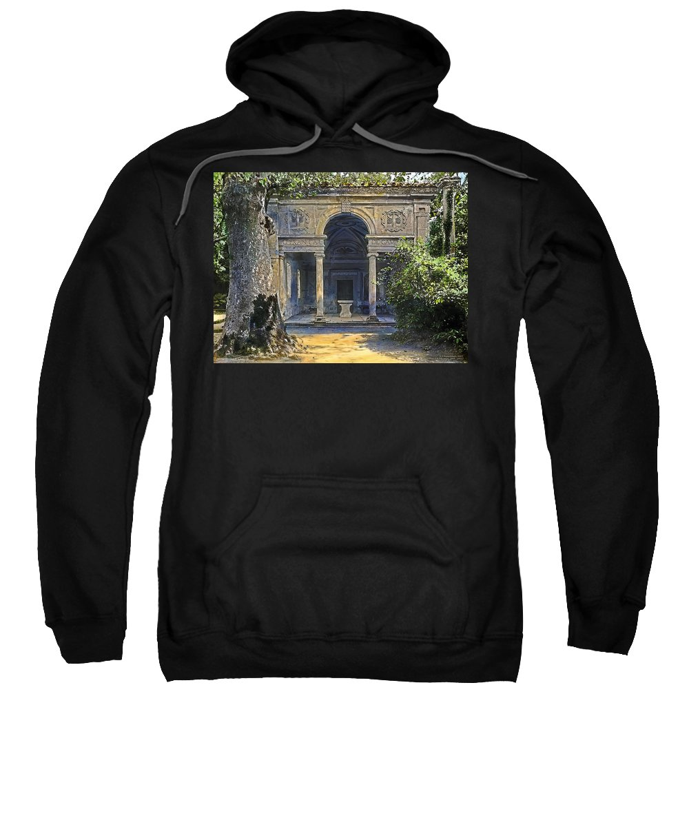 Tranquil Sweatshirt featuring the painting Loggia Of The Muses by Terry Reynoldson