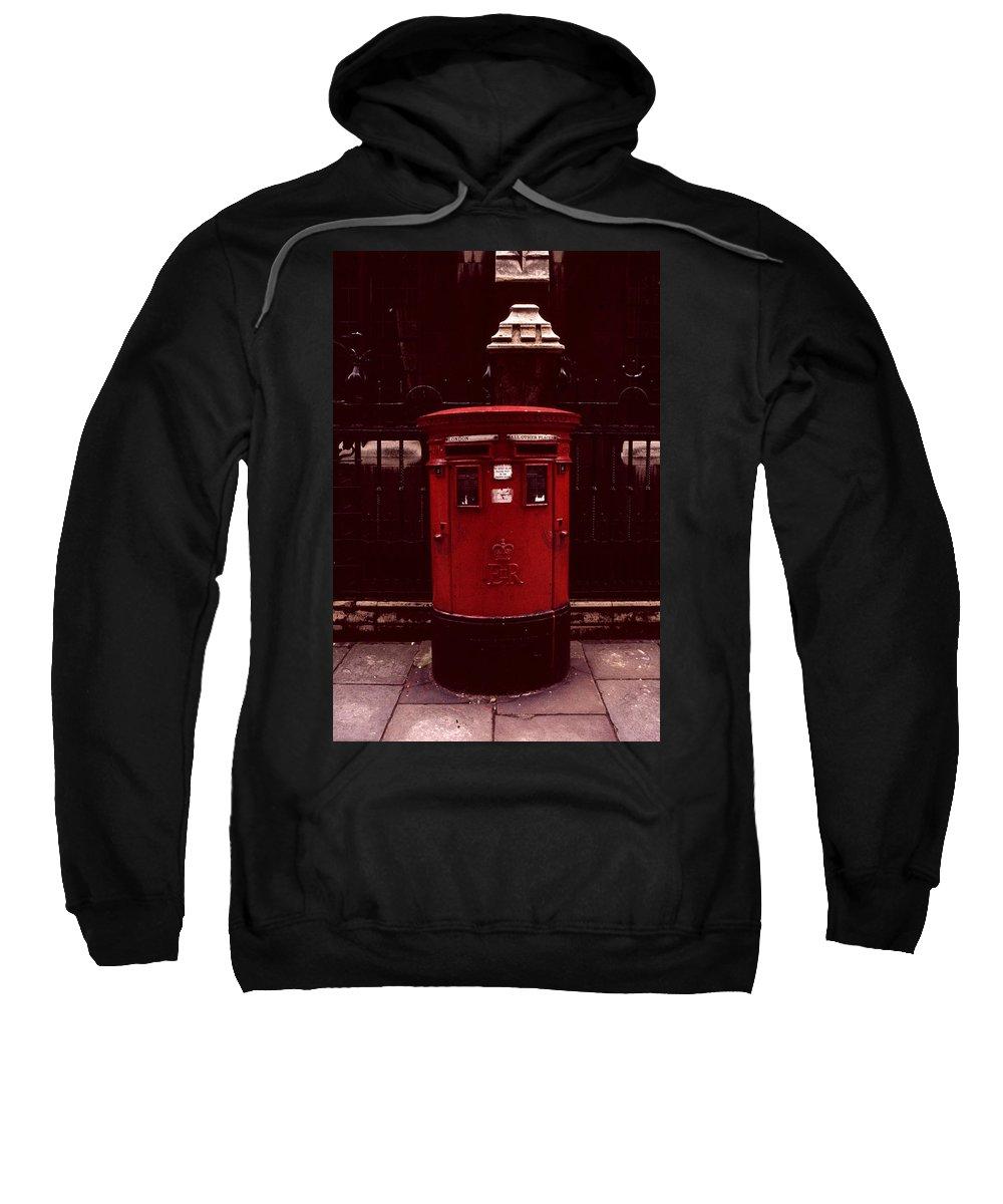 Cityscape Sweatshirt featuring the photograph London Post Box by David Hohmann