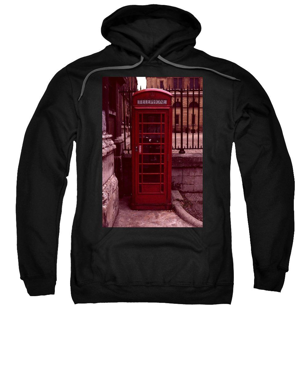 Cityscape Sweatshirt featuring the photograph London Telephone by David Hohmann