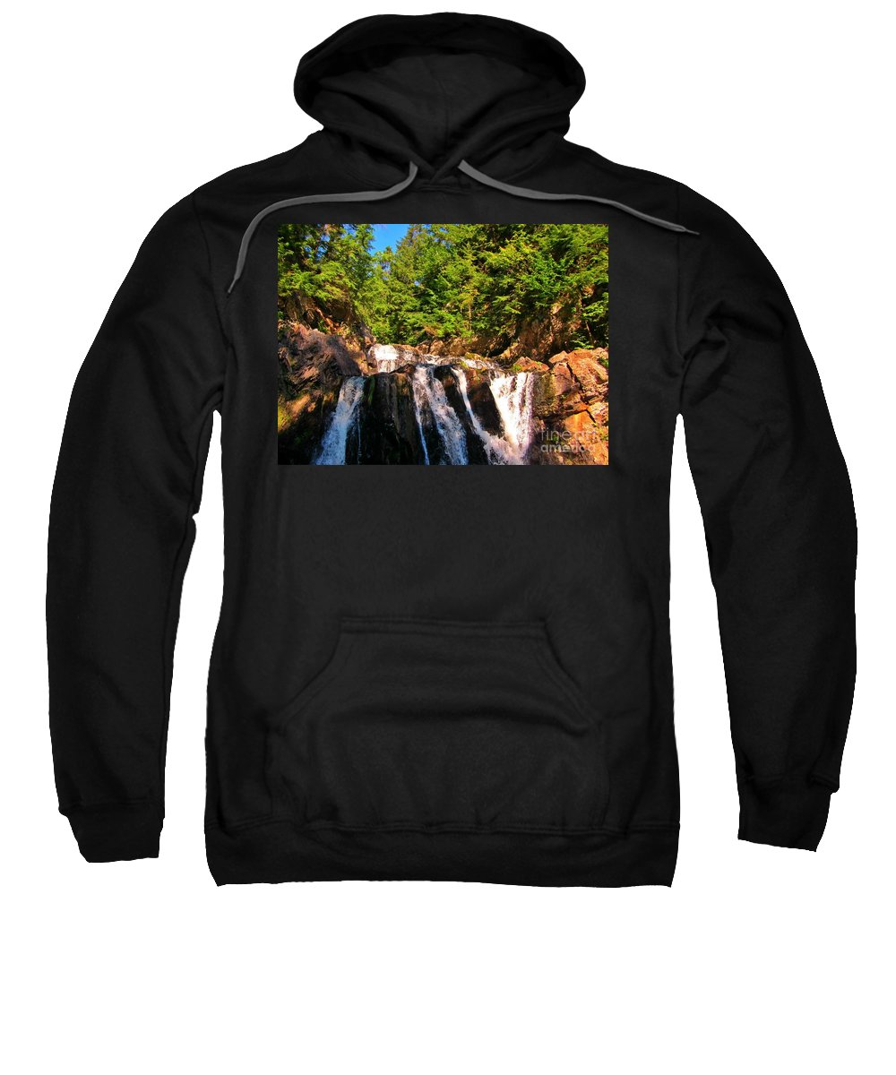 Waterfall Prints Sweatshirt featuring the photograph Looking Up At Victoria Falls by John Malone