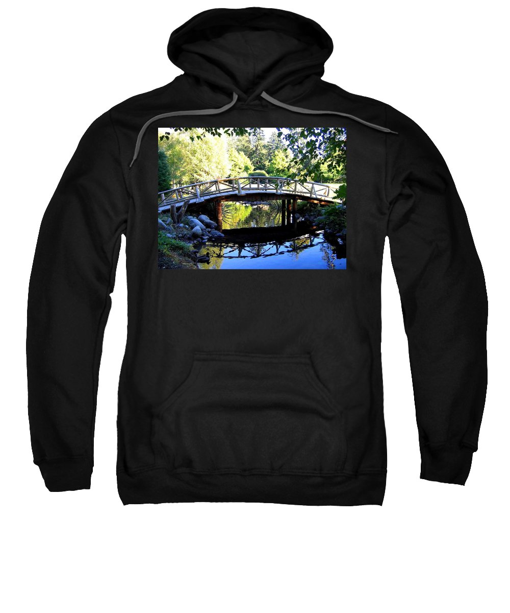 Lost Lagoon Bridge Sweatshirt featuring the photograph Lost Lagoon Bridge by Will Borden