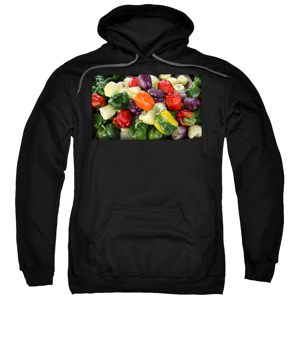 Thank Sweatshirt featuring the photograph Love My Peppers by Tina Meador