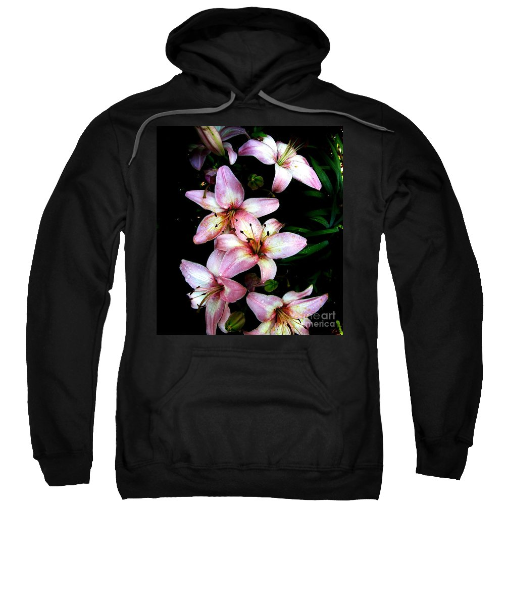 Pink Lilies Sweatshirt featuring the photograph Lovely Lilies by Marilyn Smith