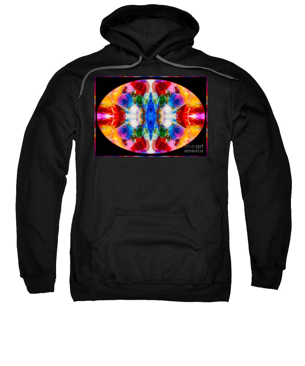 5x7 Sweatshirt featuring the painting Loving Wisdom Abstract Living Artwork by Omaste Witkowski