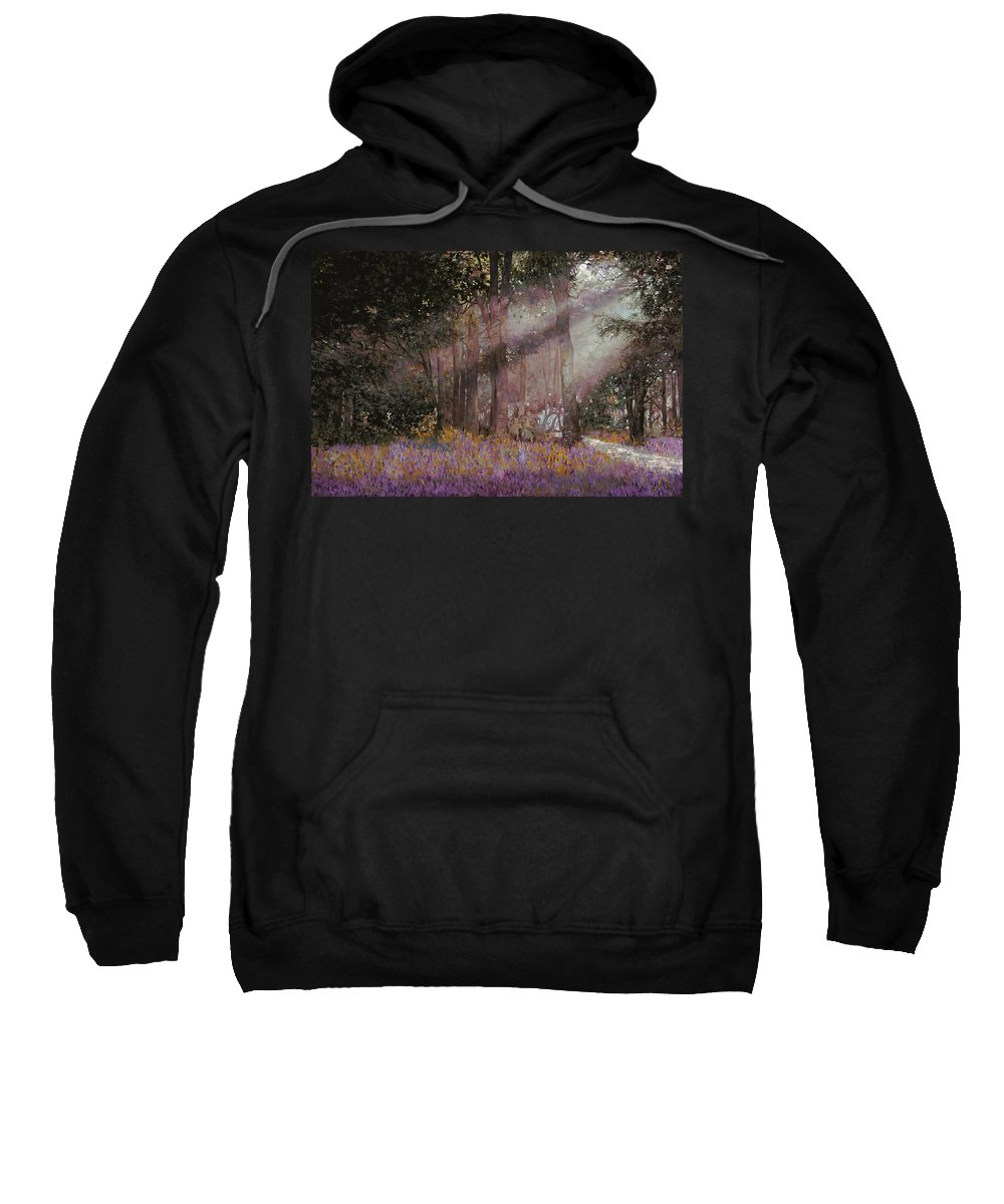 Wood Sweatshirt featuring the painting Luci by Guido Borelli
