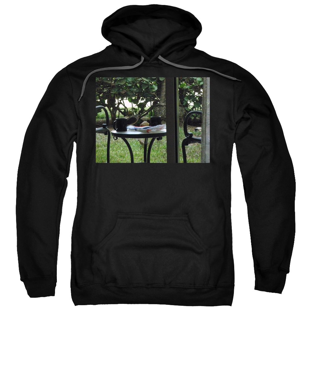 Lunch Sweatshirt featuring the photograph Lunch Guests Al Fresco by Glenn Aker