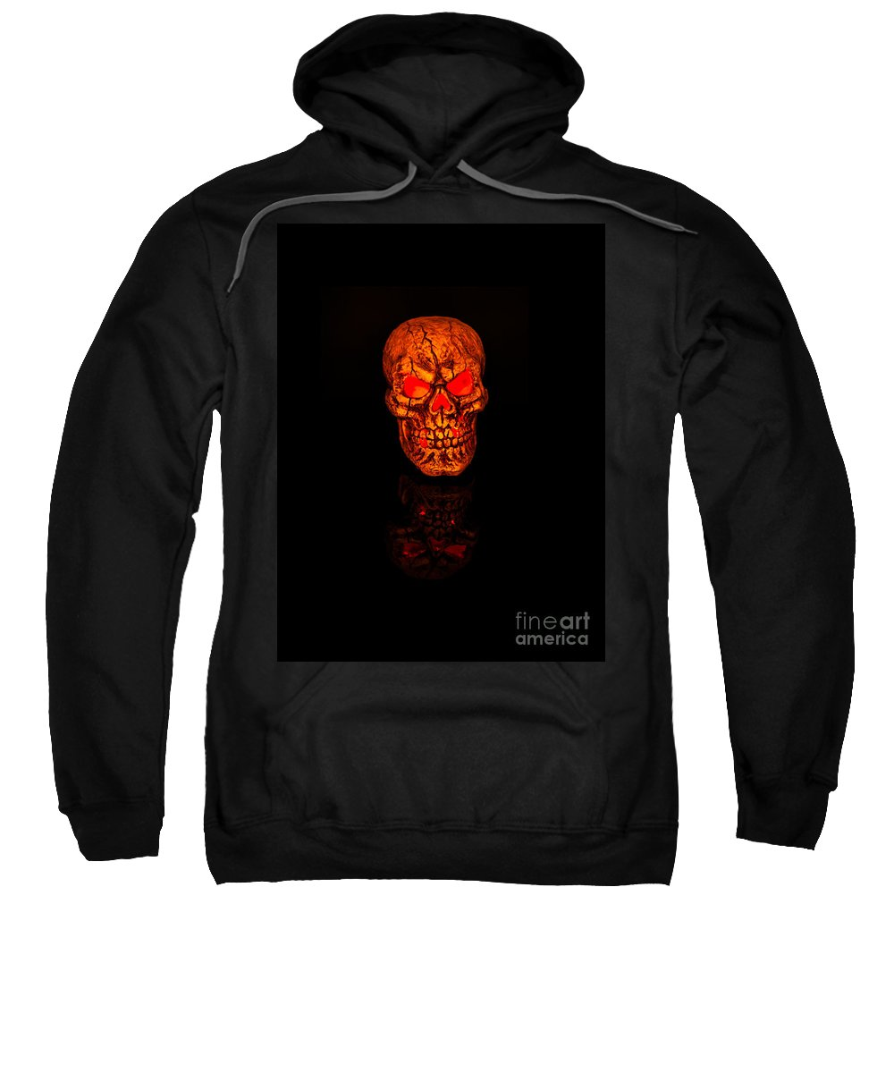 Skull Sweatshirt featuring the photograph Macabre by Steve Purnell
