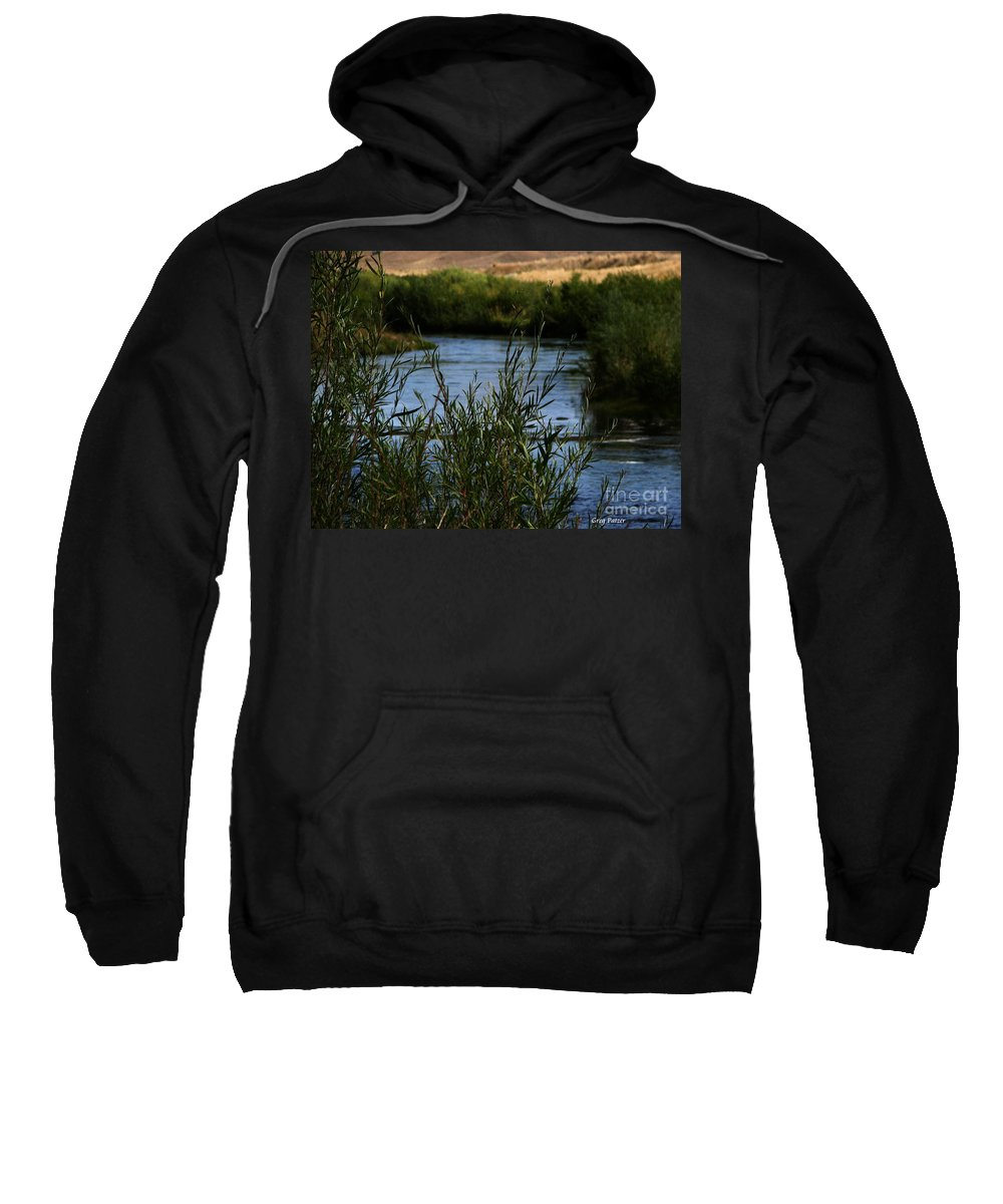Madison River Sweatshirt featuring the photograph Madison River by Greg Patzer