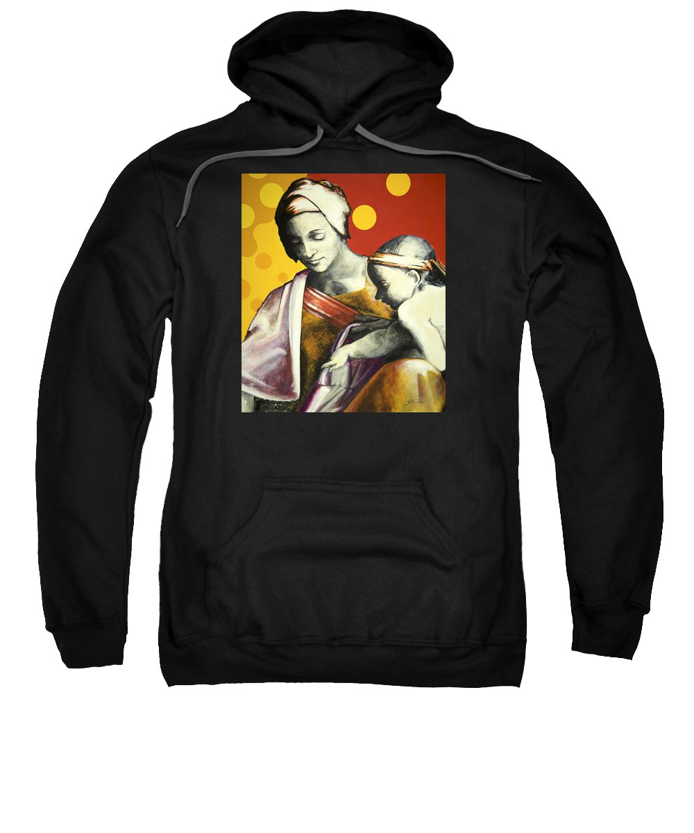 Figurative Sweatshirt featuring the painting Madona by Jean Pierre Rousselet
