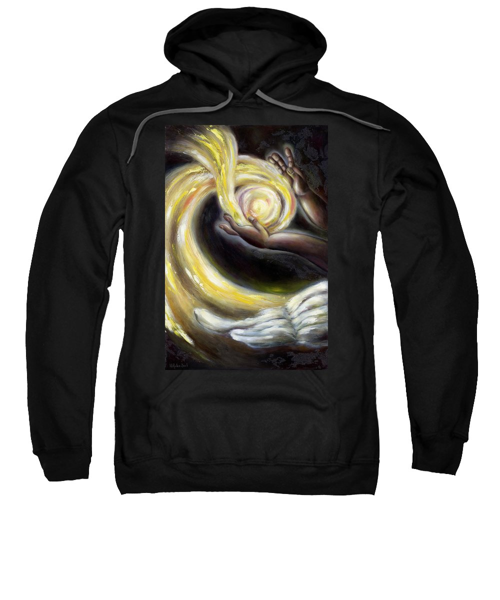 Angel Sweatshirt featuring the painting Magic by Hiroko Sakai