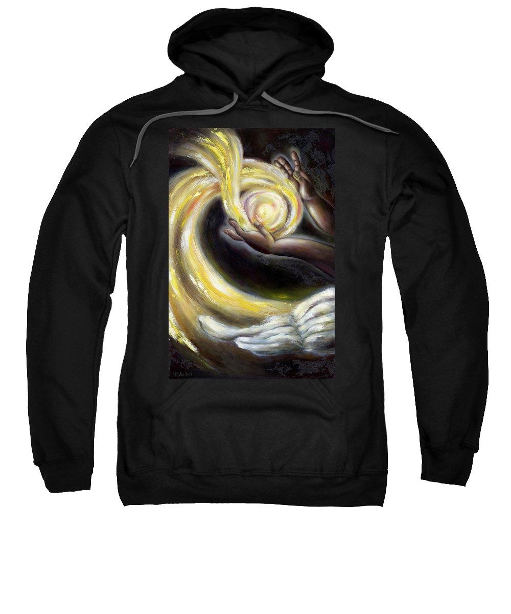Angel Sweatshirt featuring the painting Magic by Hiroko Sakai