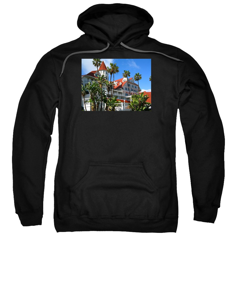Hotel Sweatshirt featuring the photograph Magnificent Hotel Del by Denise Mazzocco