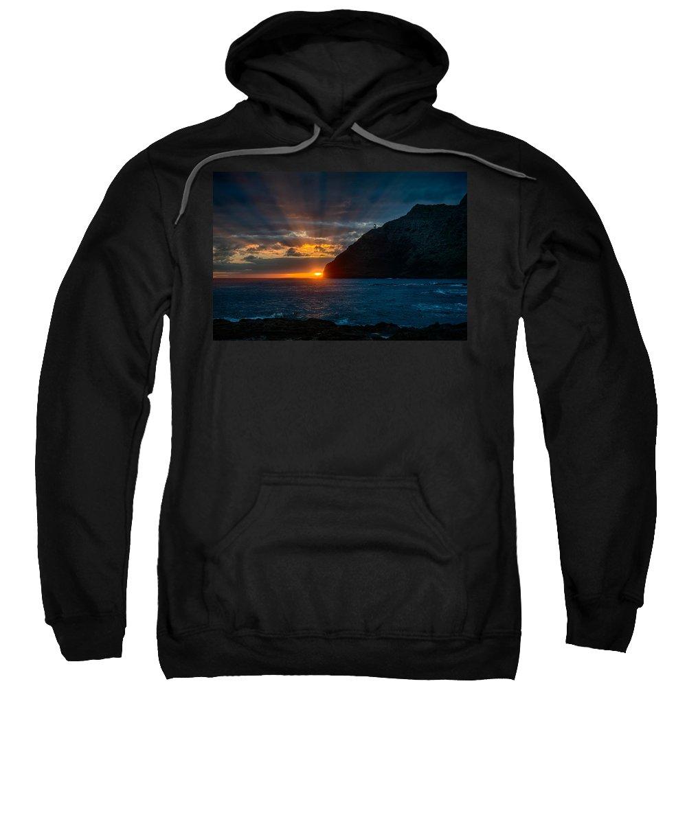Hawaii Sweatshirt featuring the photograph Makapuu Sunrise by Dan McManus