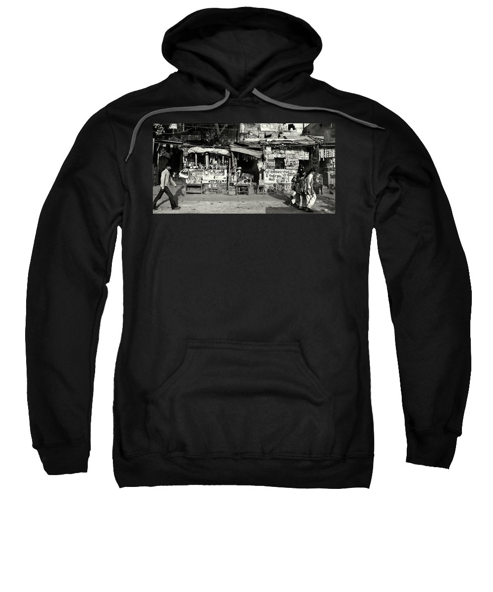 Travel Sweatshirt featuring the photograph Man Woman And Schoolgirls by Roberto Pagani