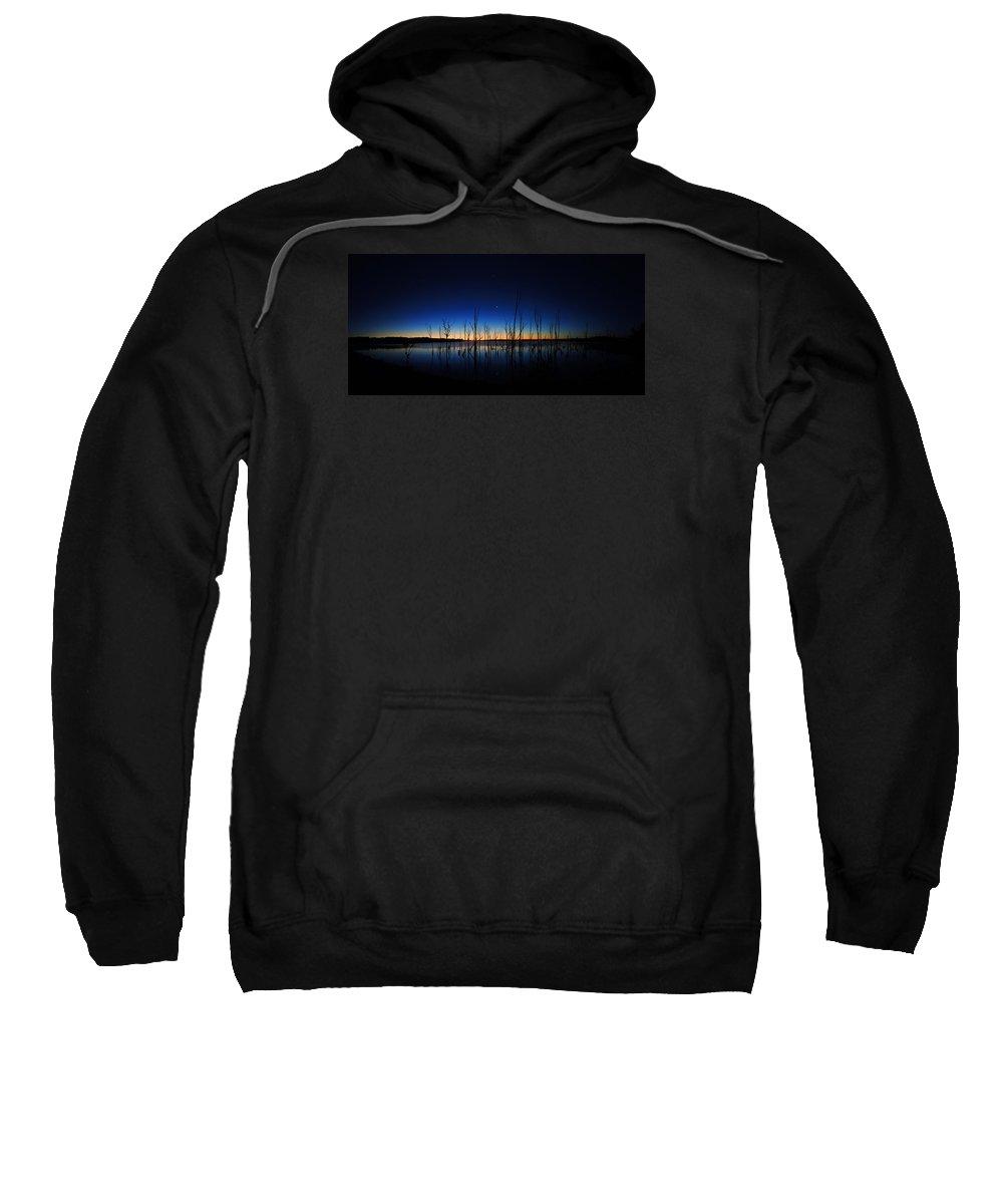 Manasquan Reservoir Sweatshirt featuring the photograph Manasquan Reservoir At Dawn by Raymond Salani III