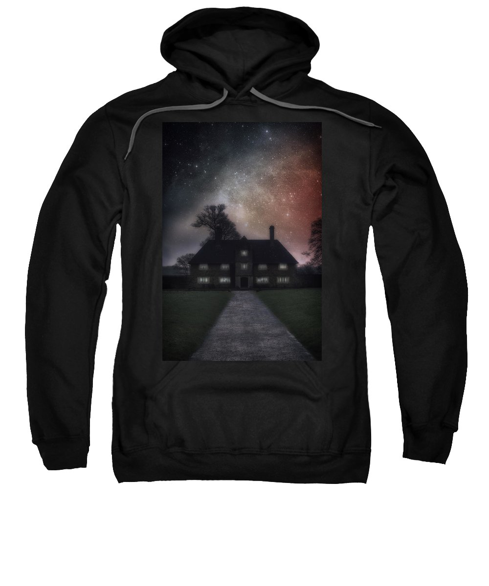 Manor Sweatshirt featuring the photograph Manor At Night by Joana Kruse