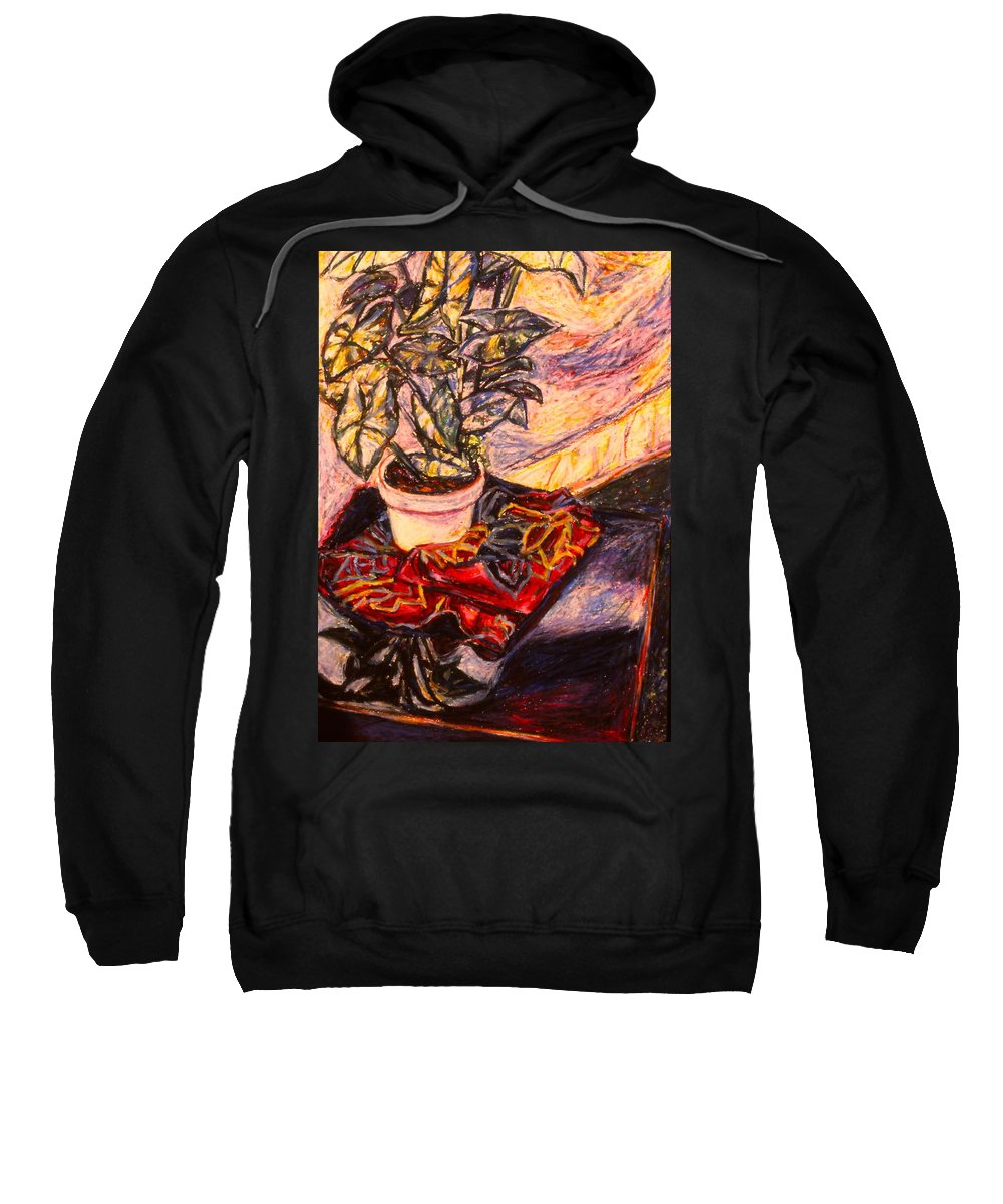 Marble Plant Sweatshirt featuring the painting Marble Twirl by Kendall Kessler