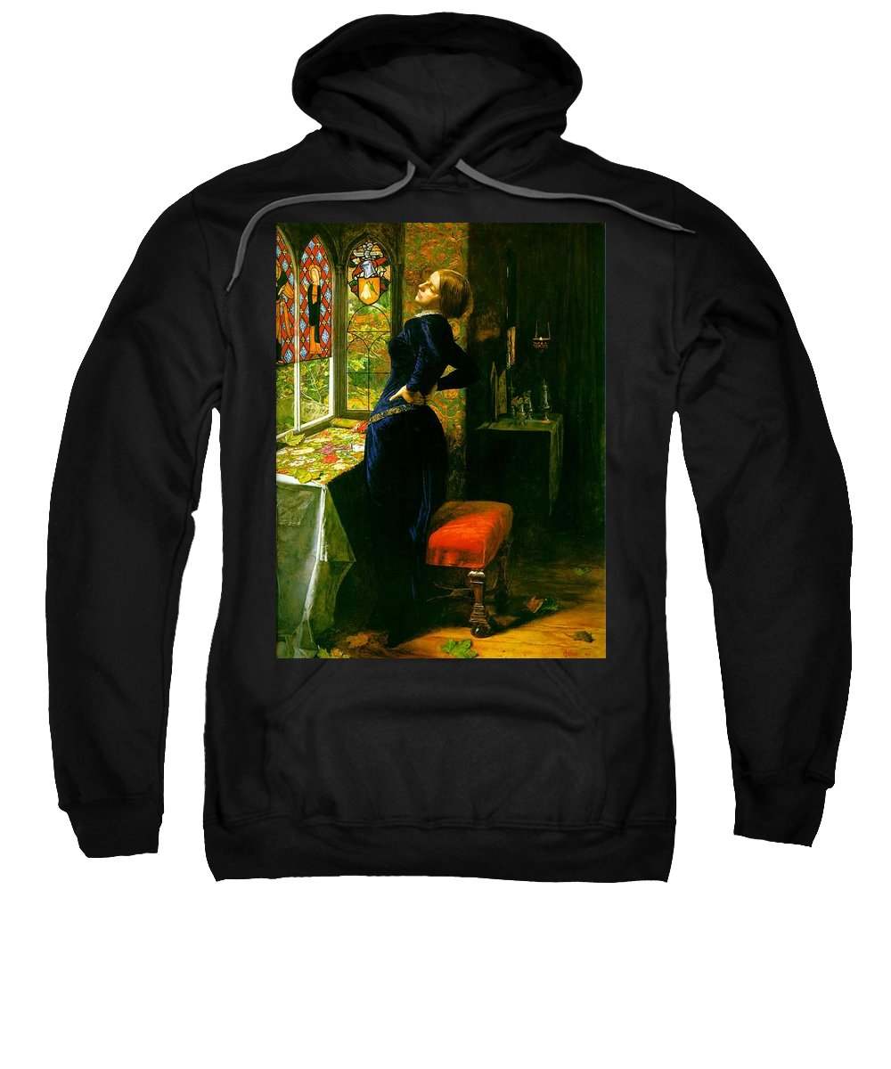 John Sweatshirt featuring the painting Mariana In The Moated Grange 1851 by Philip Ralley