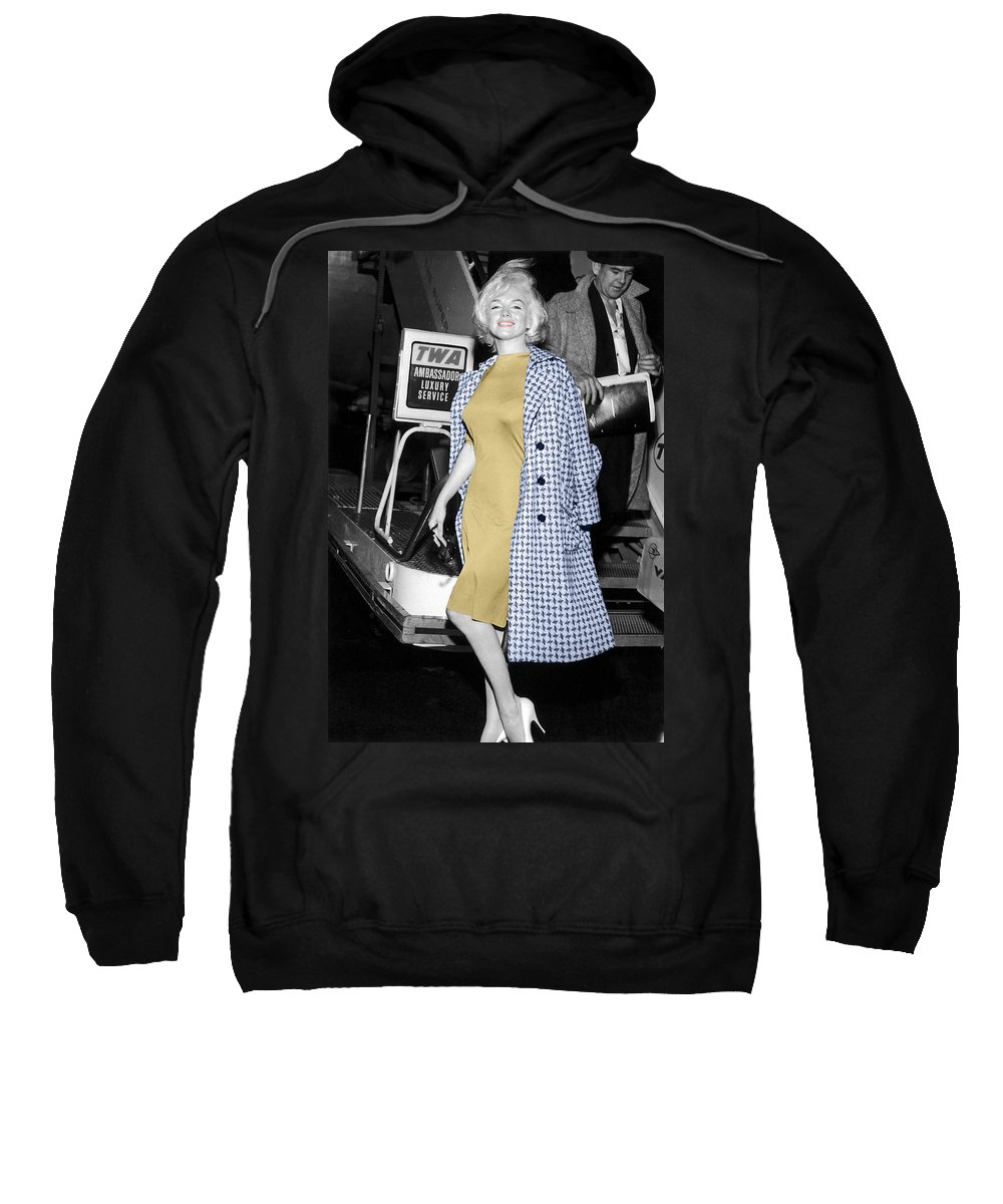 Marilyn Monroe Sweatshirt featuring the photograph Marilyn Monroe 6 by Andrew Fare