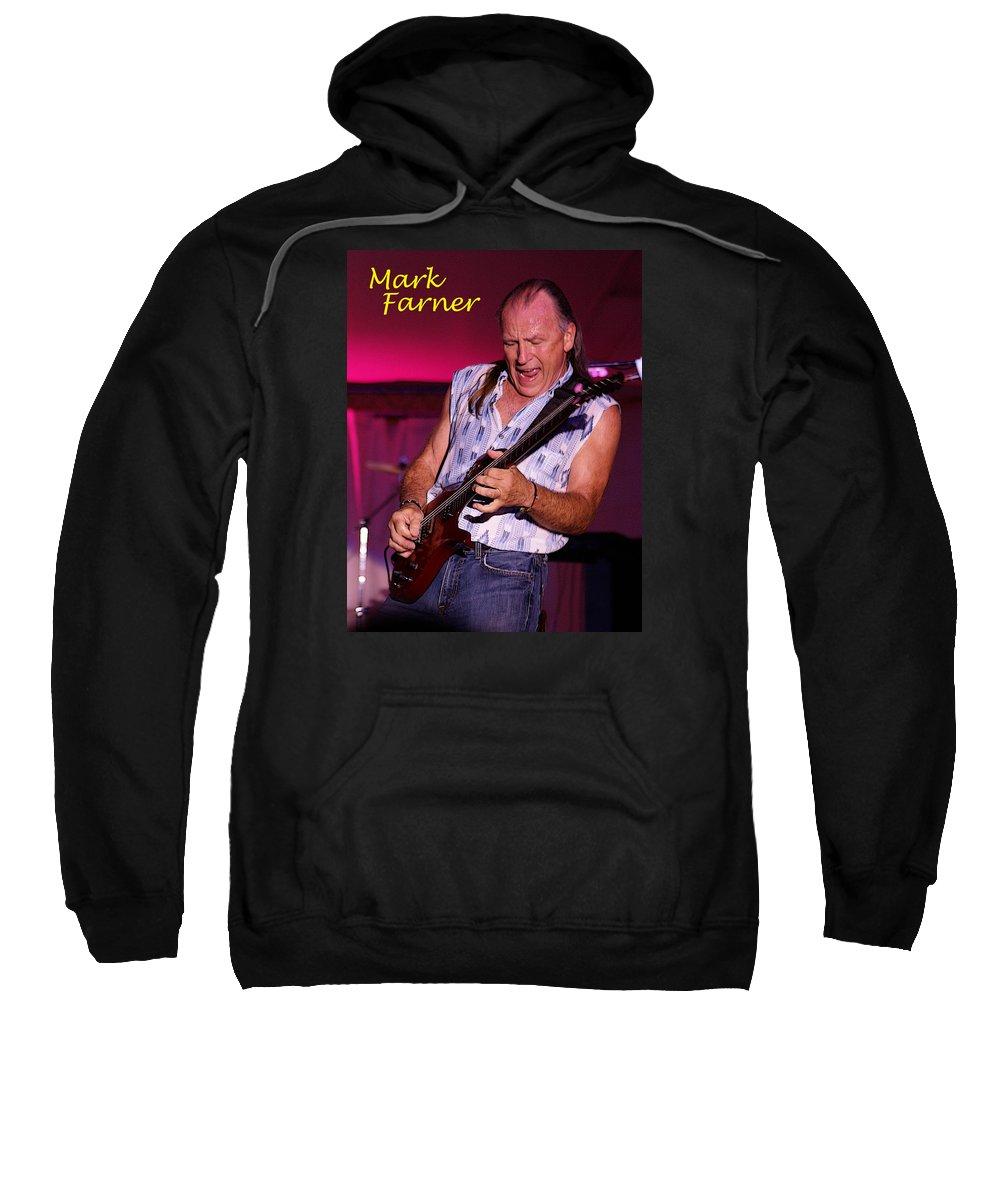 Mark Farner Sweatshirt featuring the photograph Mark Rocking In Lewiston 2 by Ben Upham