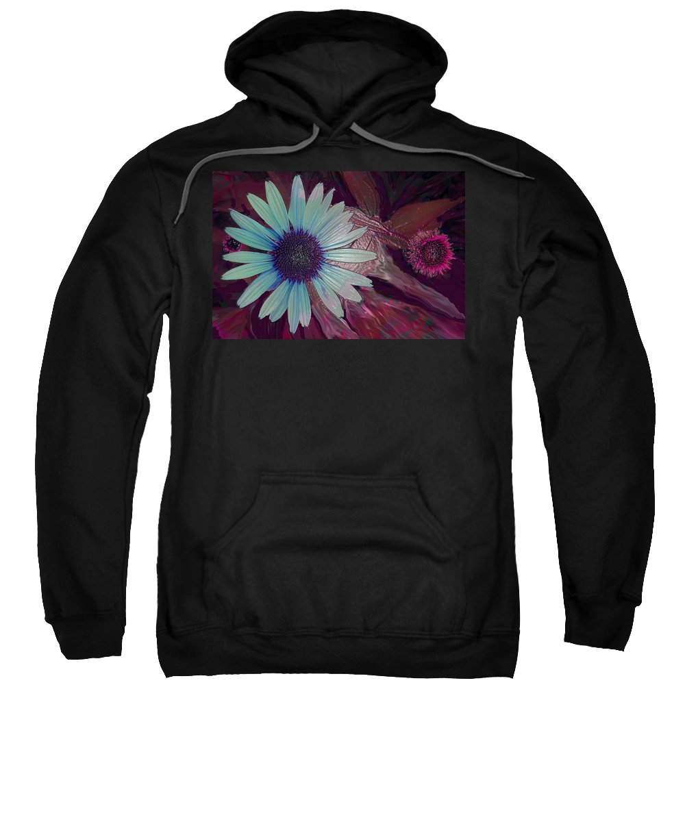 Flower Sweatshirt featuring the photograph Maroon Mood by Ian MacDonald