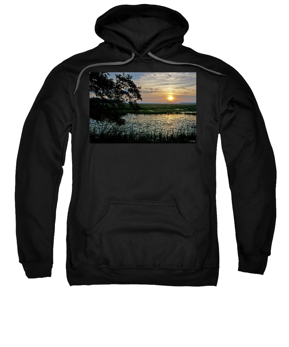Sunrise Sweatshirt featuring the photograph Marsh View by Phill Doherty