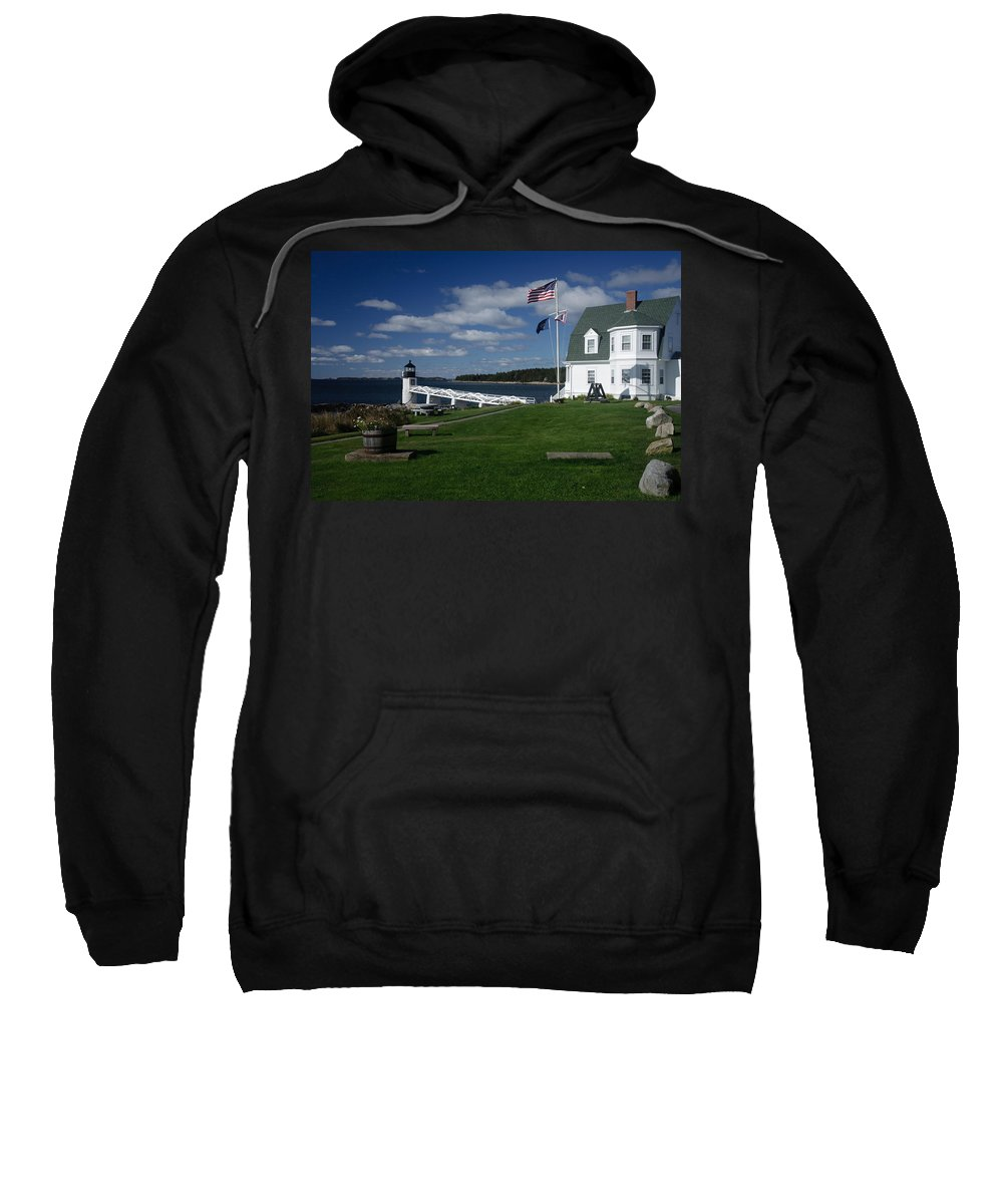 Vacationland Sweatshirt featuring the photograph Marshall Point Lighthouse by David Smith