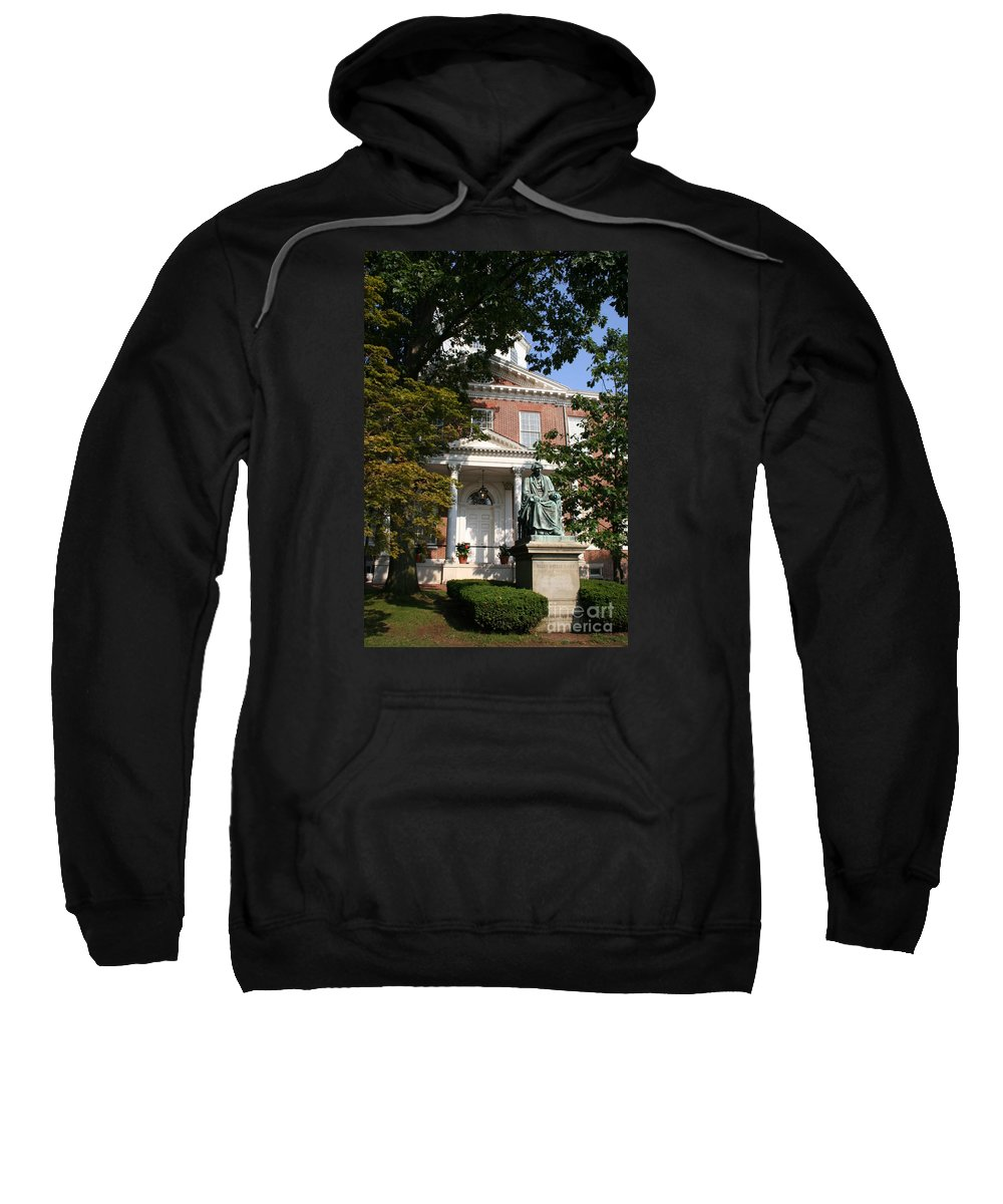 State House Sweatshirt featuring the photograph Maryland State House And Statue by Christiane Schulze Art And Photography