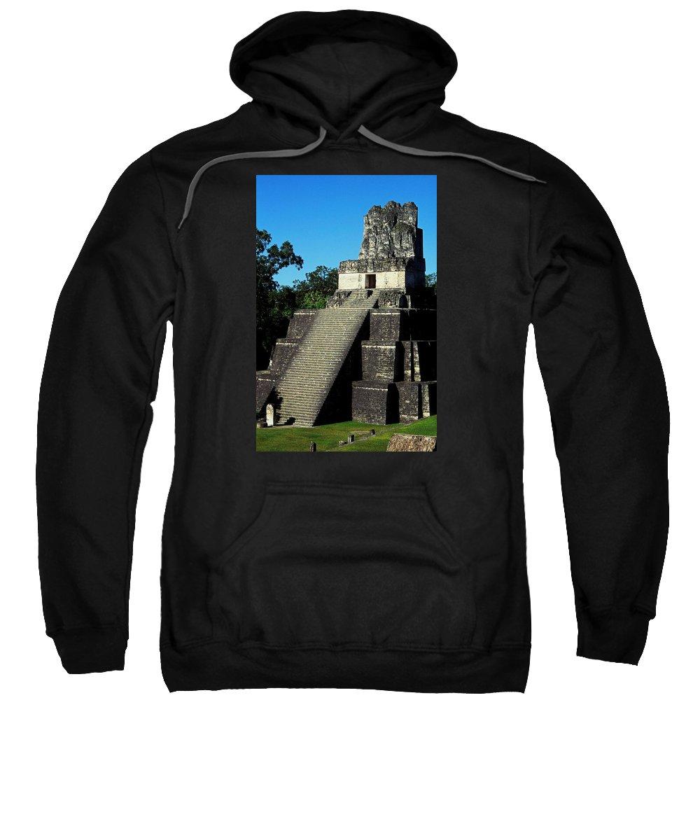 Guatemala Sweatshirt featuring the photograph Mayan Ruins - Tikal Guatemala by Juergen Weiss