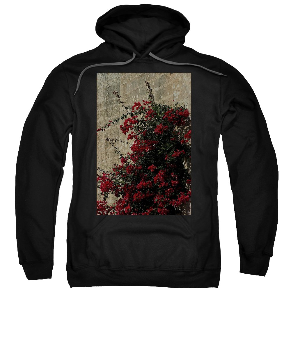 Bougainvillea Sweatshirt featuring the photograph Mdina by Joseph Yarbrough