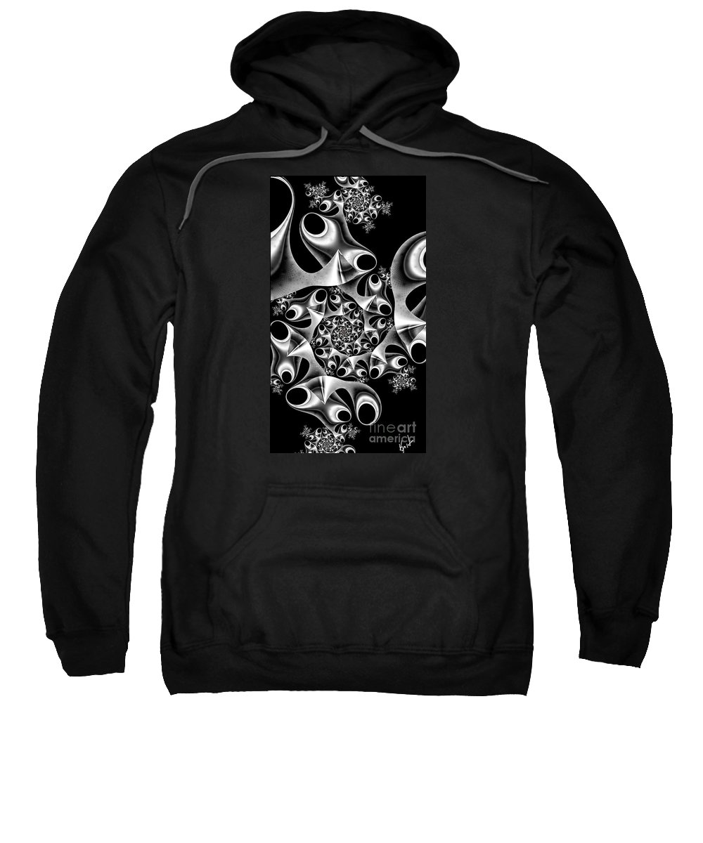 Mechanica Sweatshirt featuring the digital art Mechanica by Kimberly Hansen
