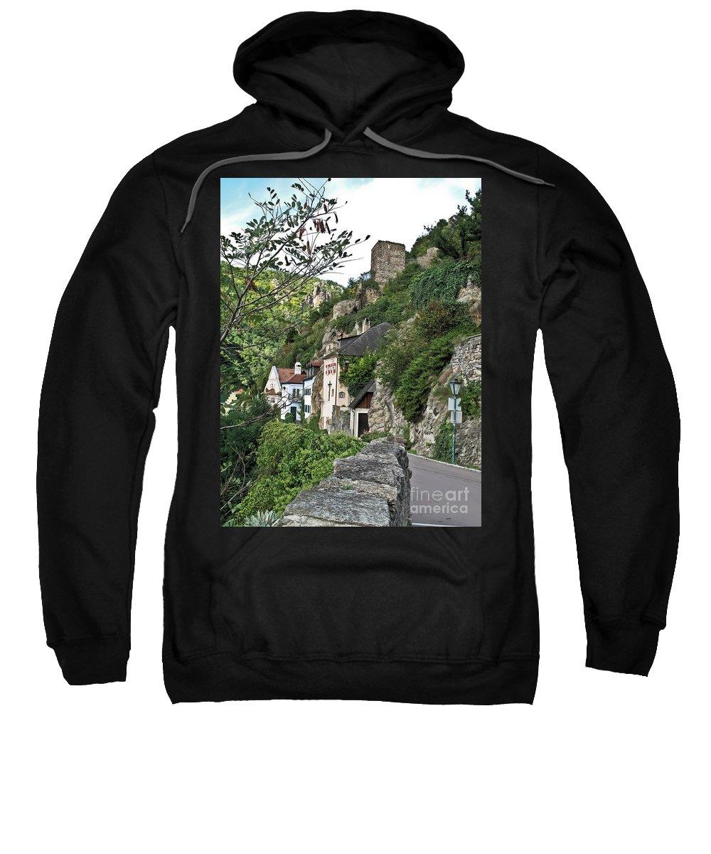 Travel Sweatshirt featuring the photograph Medieval Durnstein by Elvis Vaughn