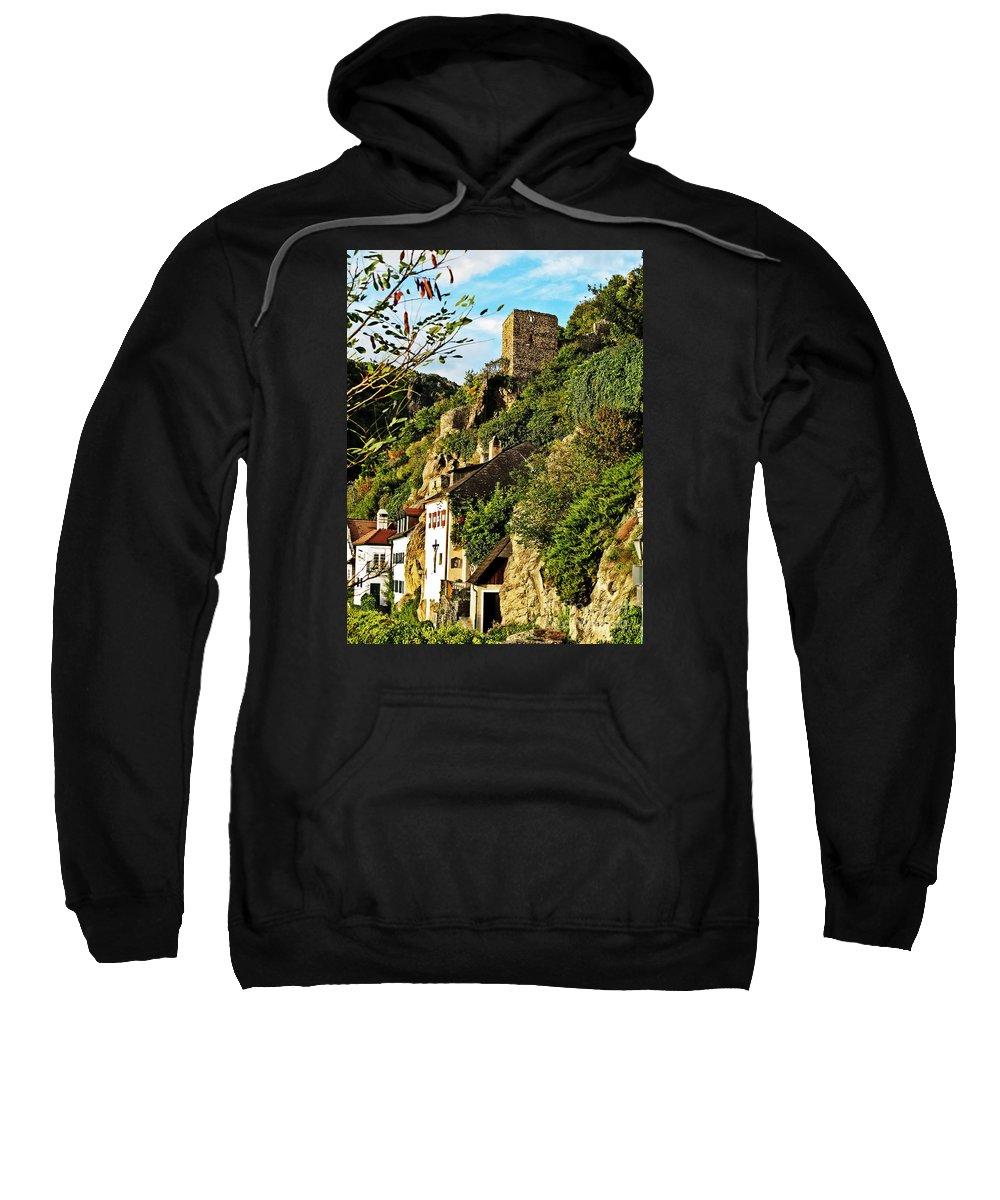 Travel Sweatshirt featuring the photograph Medieval Durnstein II by Elvis Vaughn