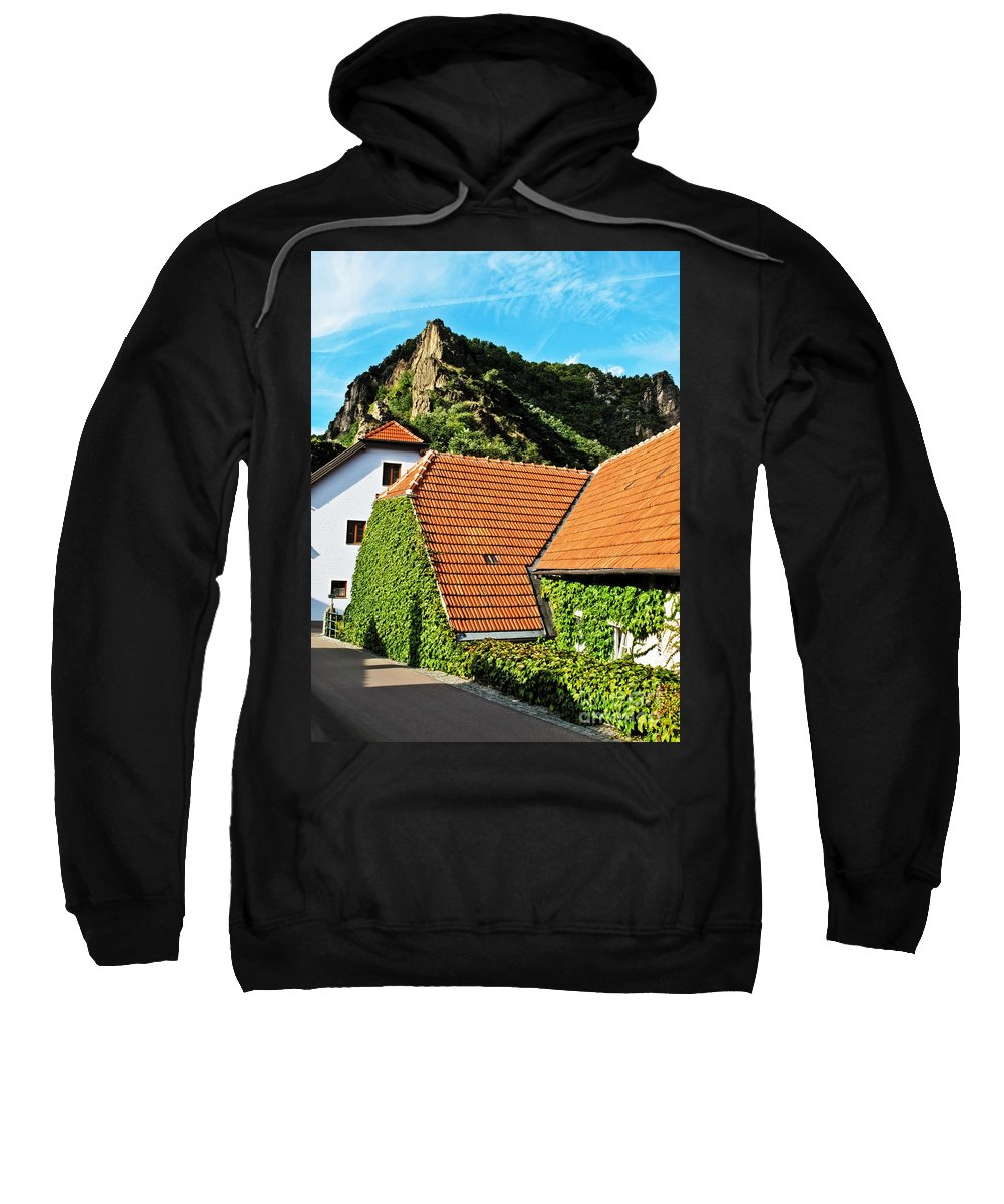 Travel Sweatshirt featuring the photograph Medieval Street by Elvis Vaughn