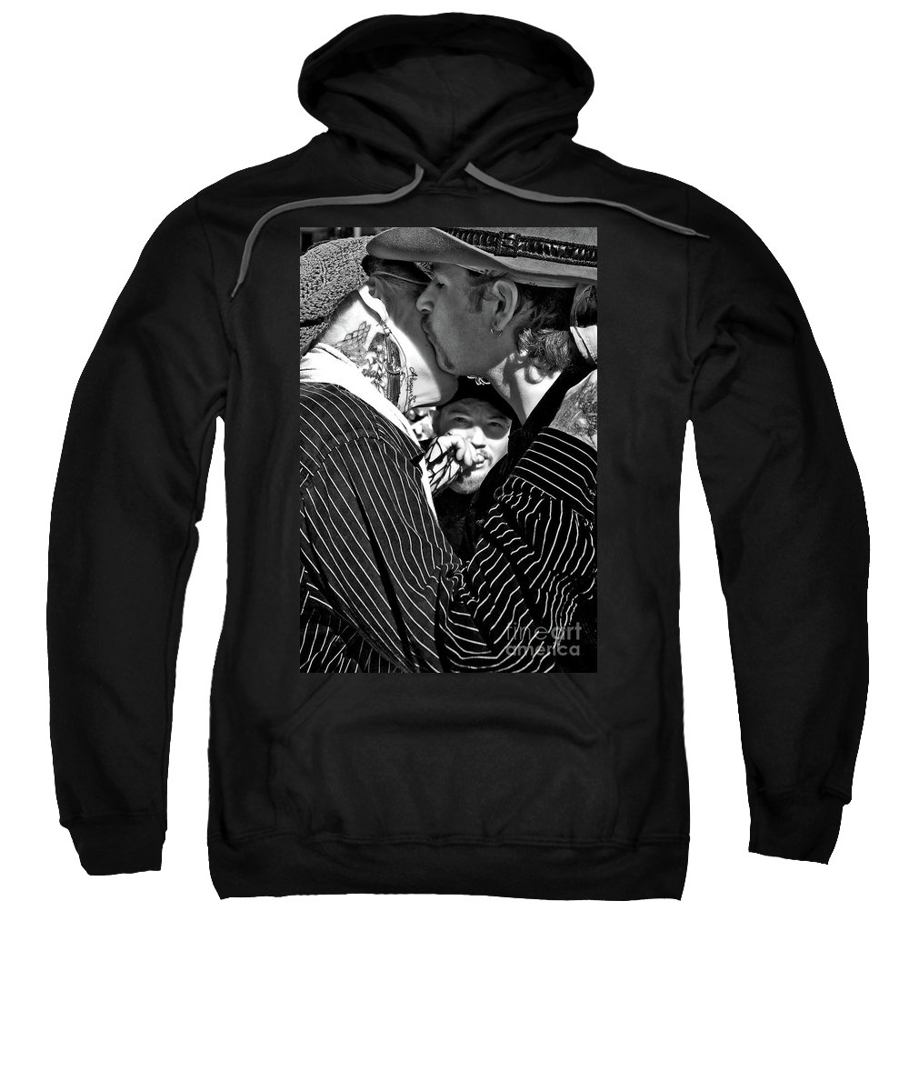 Lovers Sweatshirt featuring the photograph Menage A Trois by Kathleen K Parker