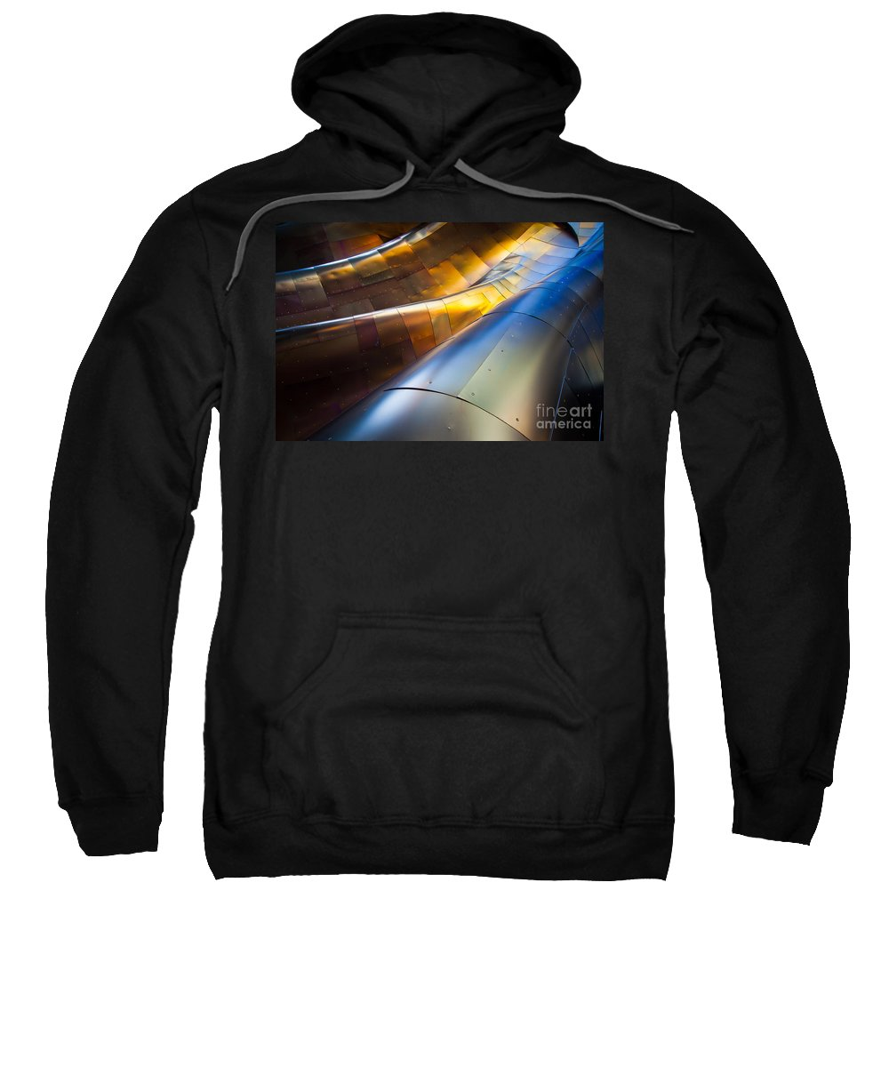 Seattle Sweatshirt featuring the photograph Metal Waves by Inge Johnsson