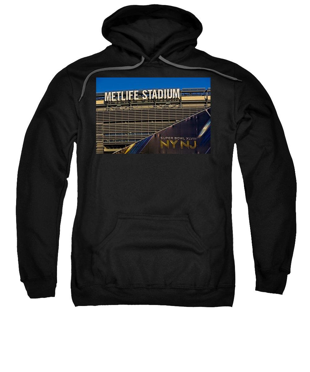 Metlife Stadium Sweatshirt featuring the photograph Metlife Stadium Super Bowl Xlviii Ny Nj by Susan Candelario