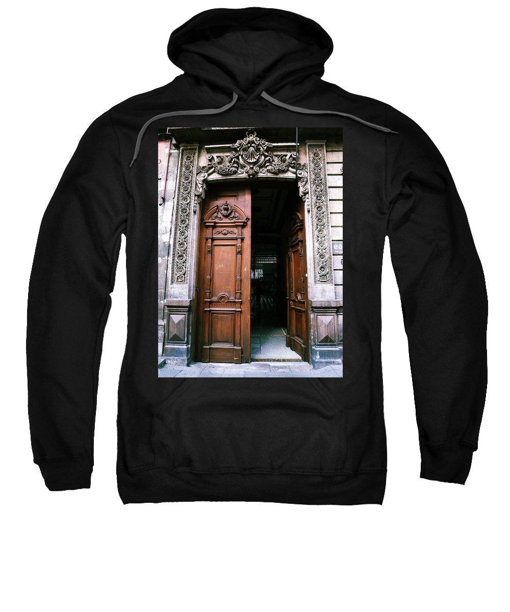 Door Sweatshirt featuring the photograph Mexican Door 5 by Xueling Zou