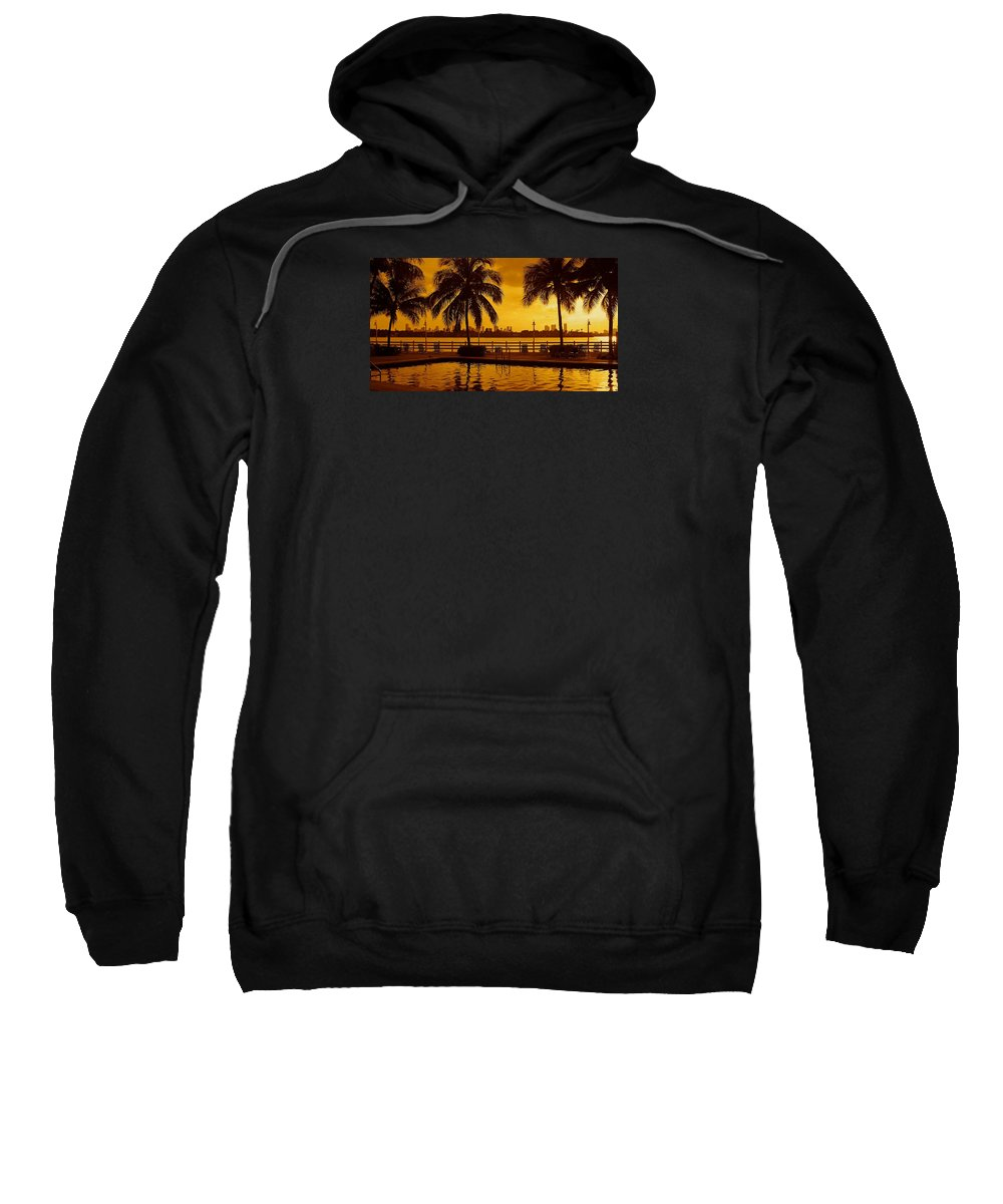 Miami South Beach Print Sweatshirt featuring the photograph Miami South Beach Romance by Monique's Fine Art