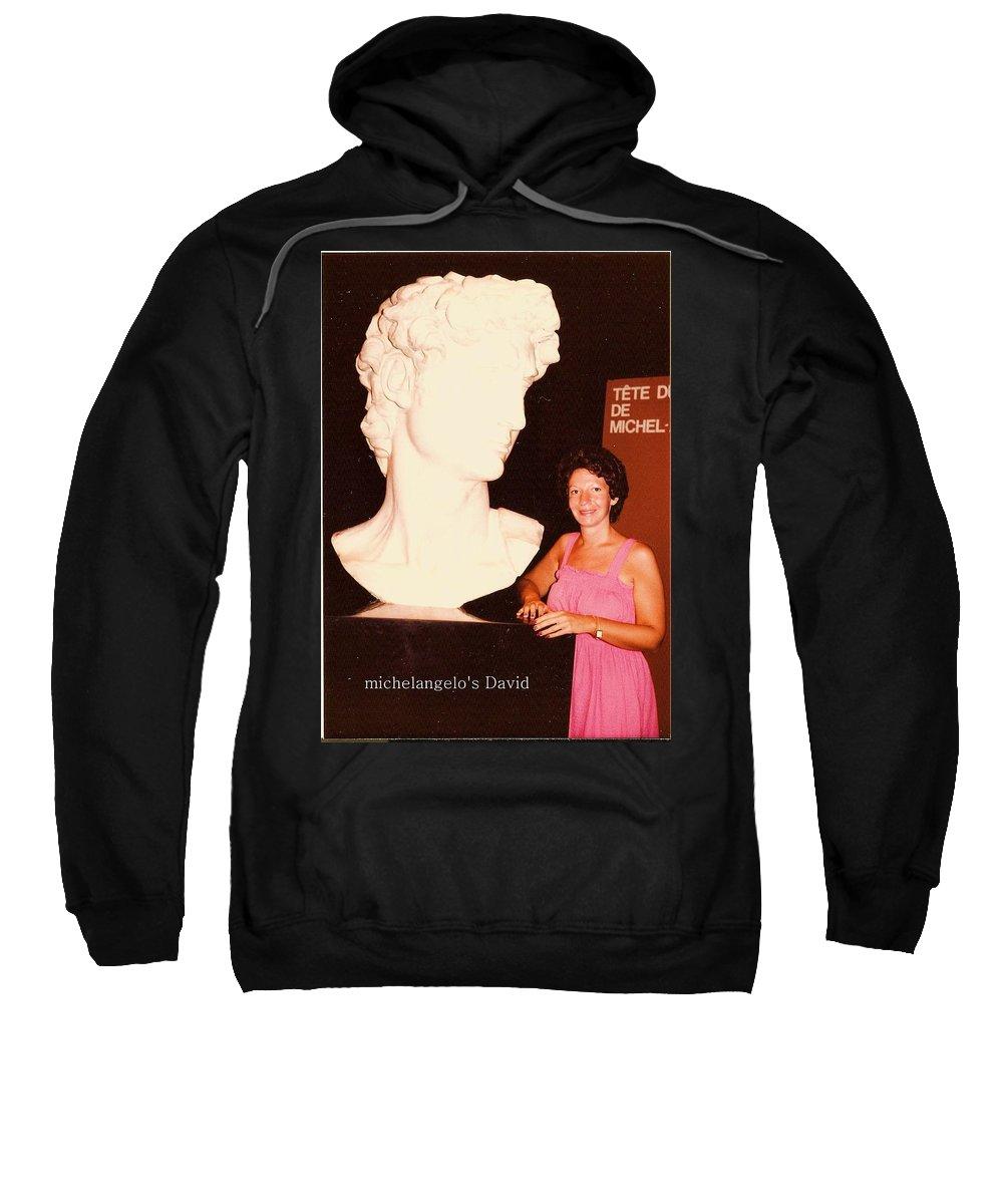 Michelangelo Sweatshirt featuring the photograph Michelangelos Statue Of David by Carole Spandau