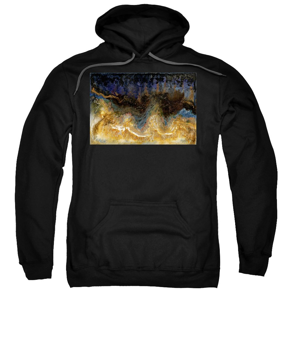 Glass Paint Sweatshirt featuring the painting Midnight Beach 2 by Nadine Rippelmeyer