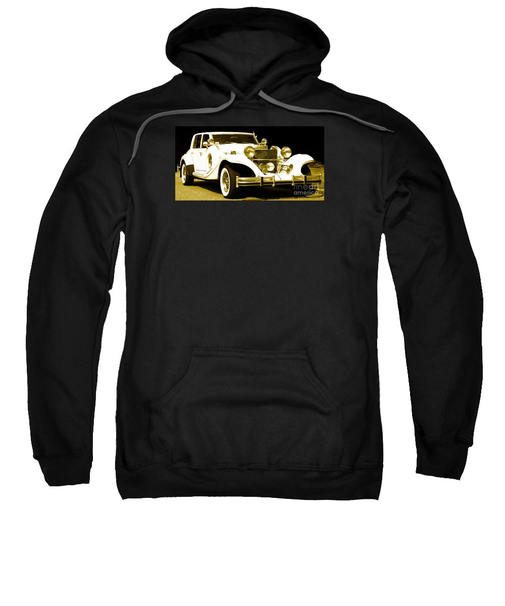 Parked Automobile (excalibur) Sweatshirt featuring the photograph Midnight Rider 89 by Theresa Cummings