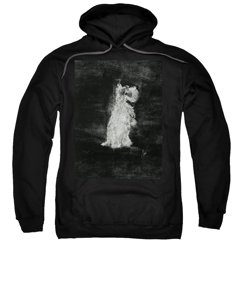 Monotype Sweatshirt featuring the mixed media Midnight Sonata by Cori Solomon