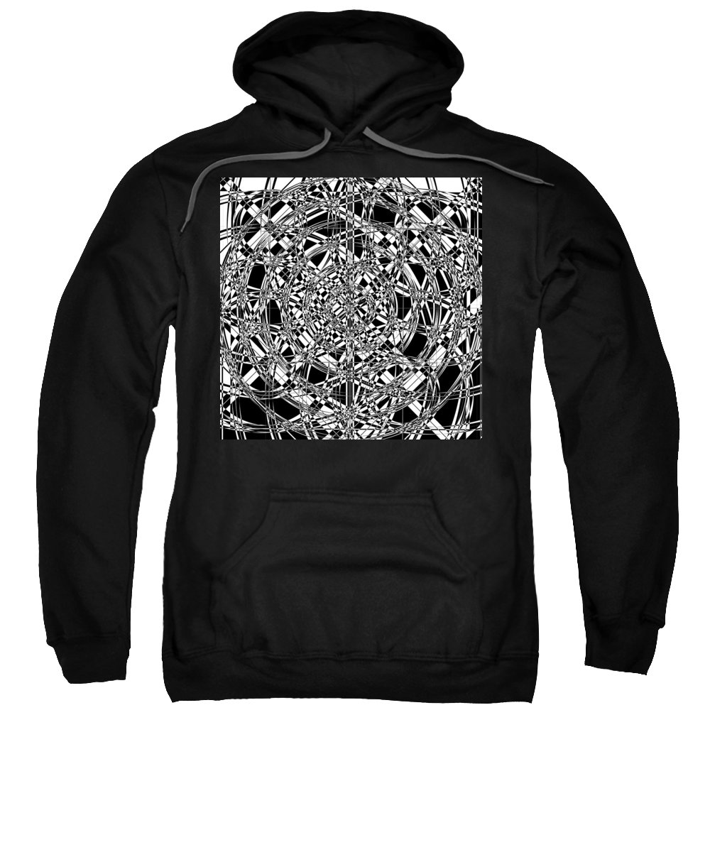 Abstract Sweatshirt featuring the digital art B W Sq 7 by Mike McGlothlen