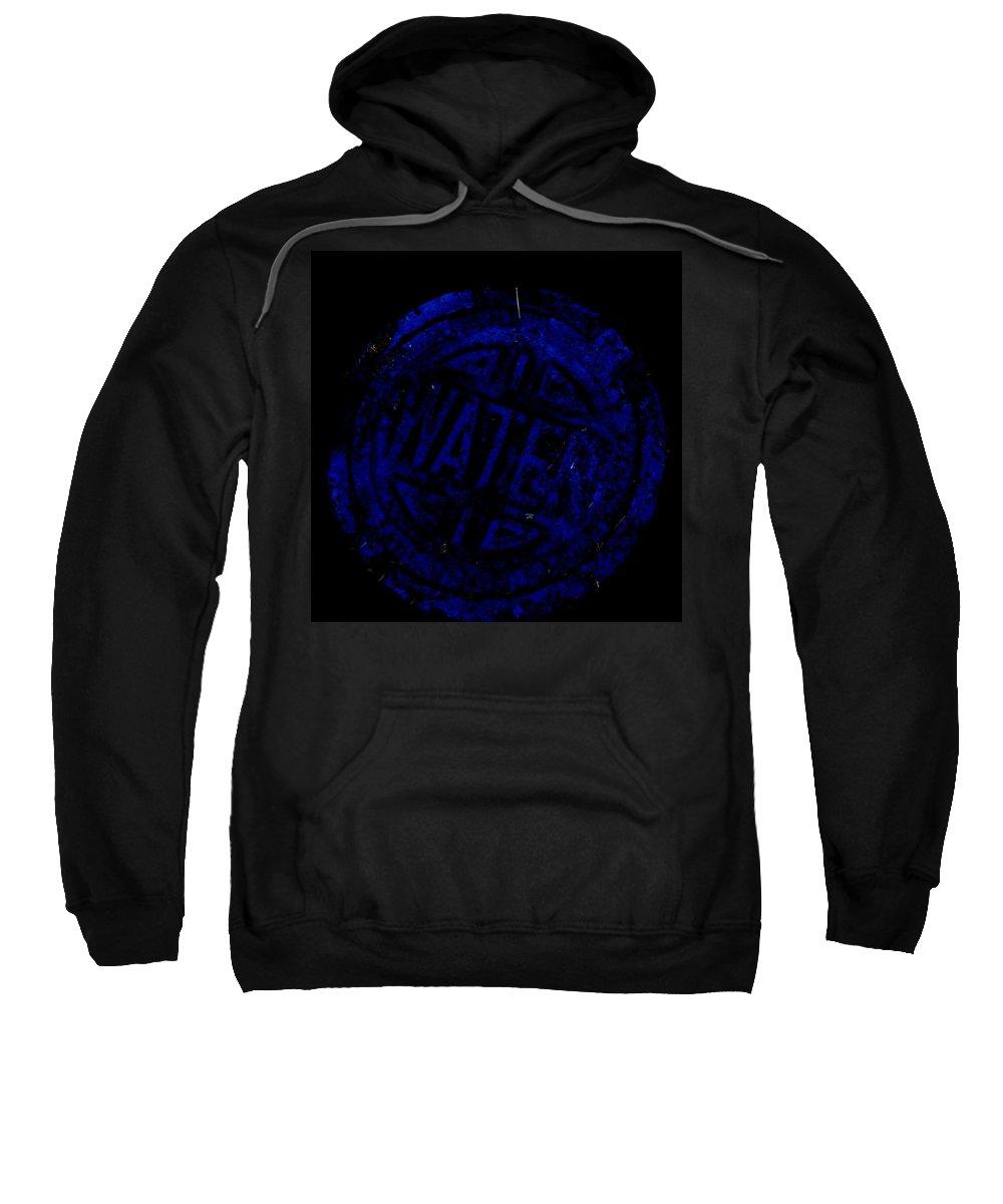Sweatshirt featuring the digital art Minimalism Water by Cathy Anderson