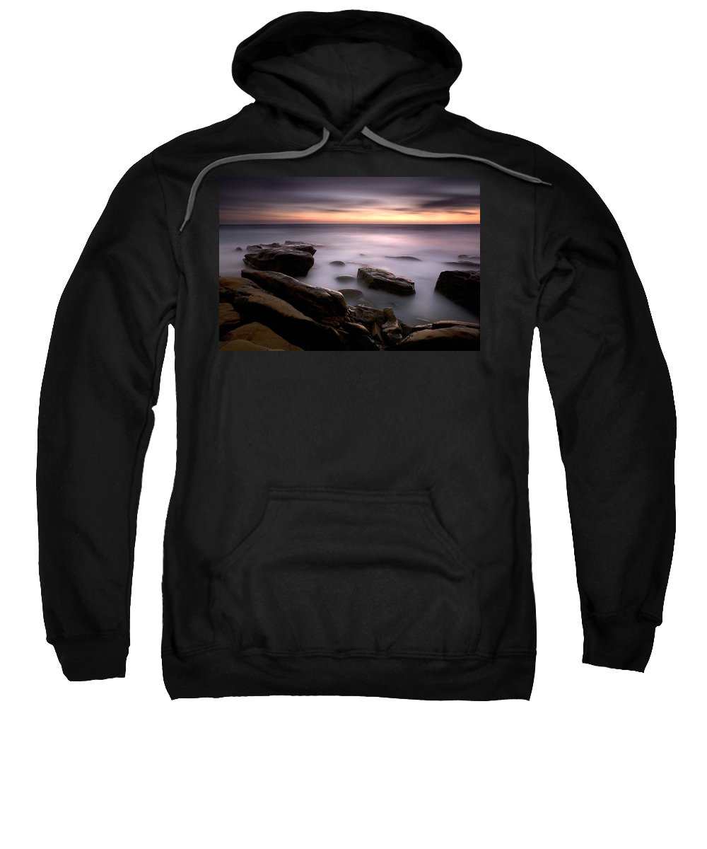 Beach Sweatshirt featuring the photograph Misty Water by Peter Tellone