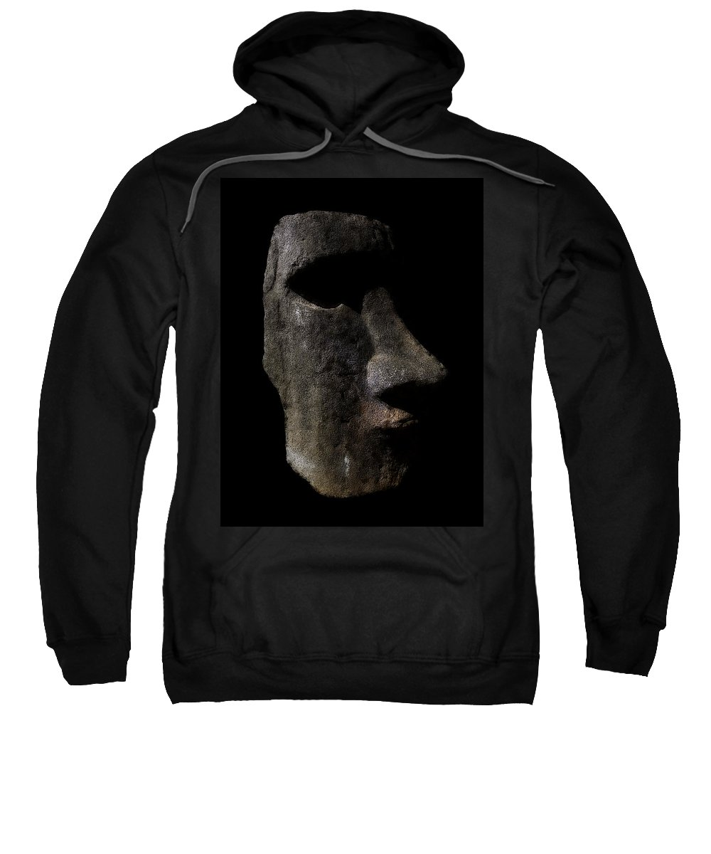 Moai Sweatshirt featuring the digital art Moai by Daniel Hagerman