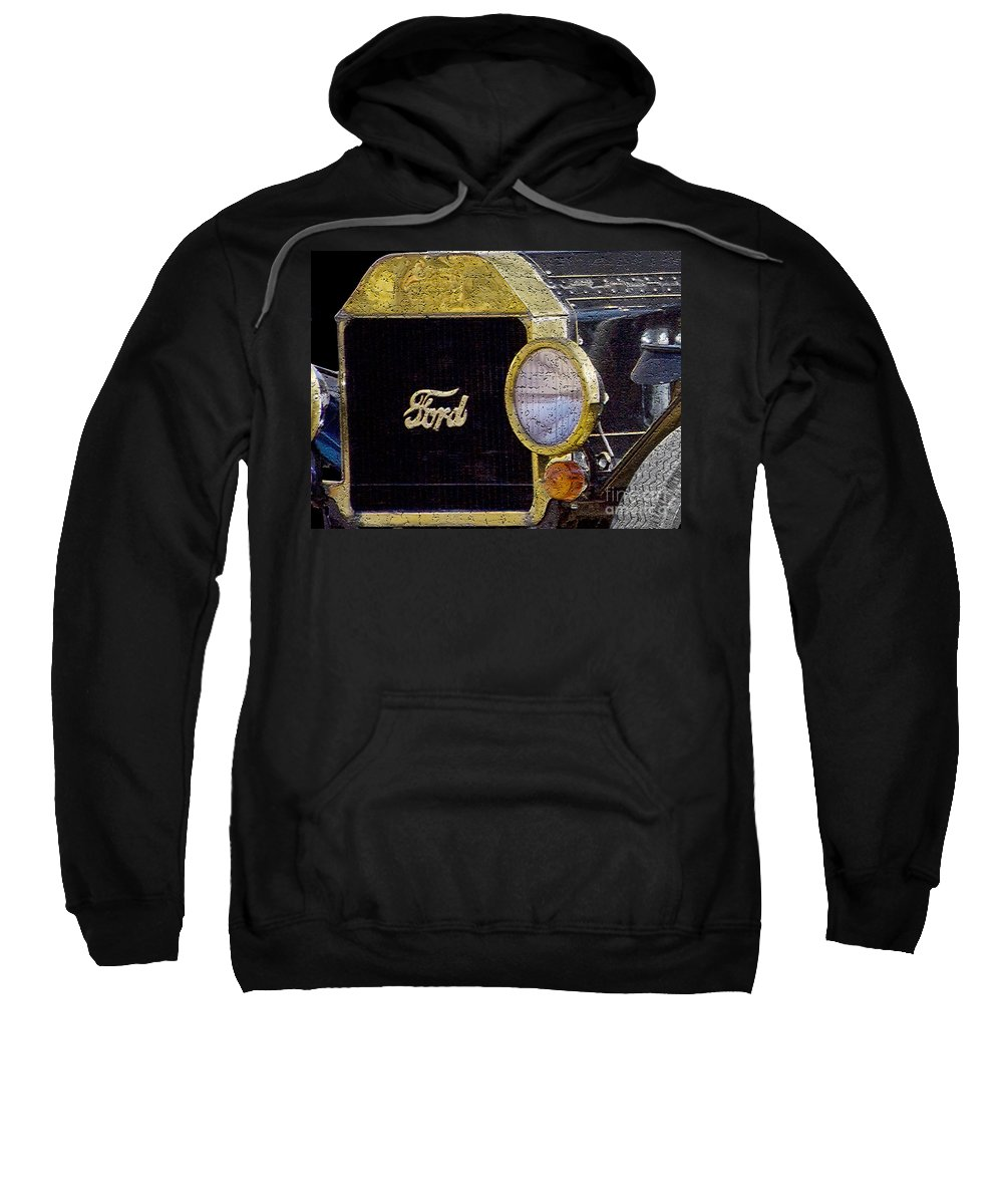 Ford Sweatshirt featuring the photograph Model A Ford by Betty LaRue