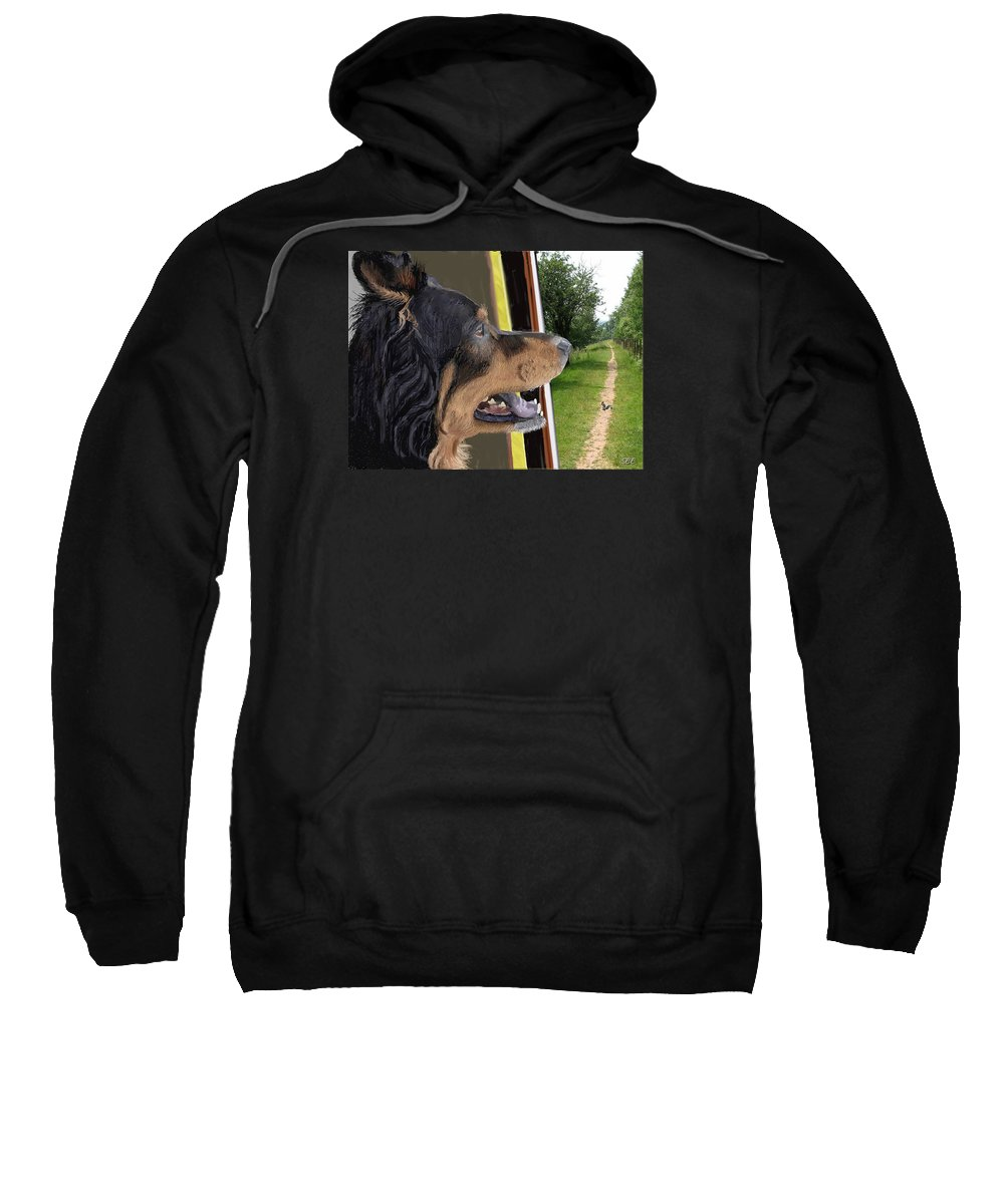 Dog Sweatshirt featuring the photograph Molly's Dream by Susan Eileen Evans